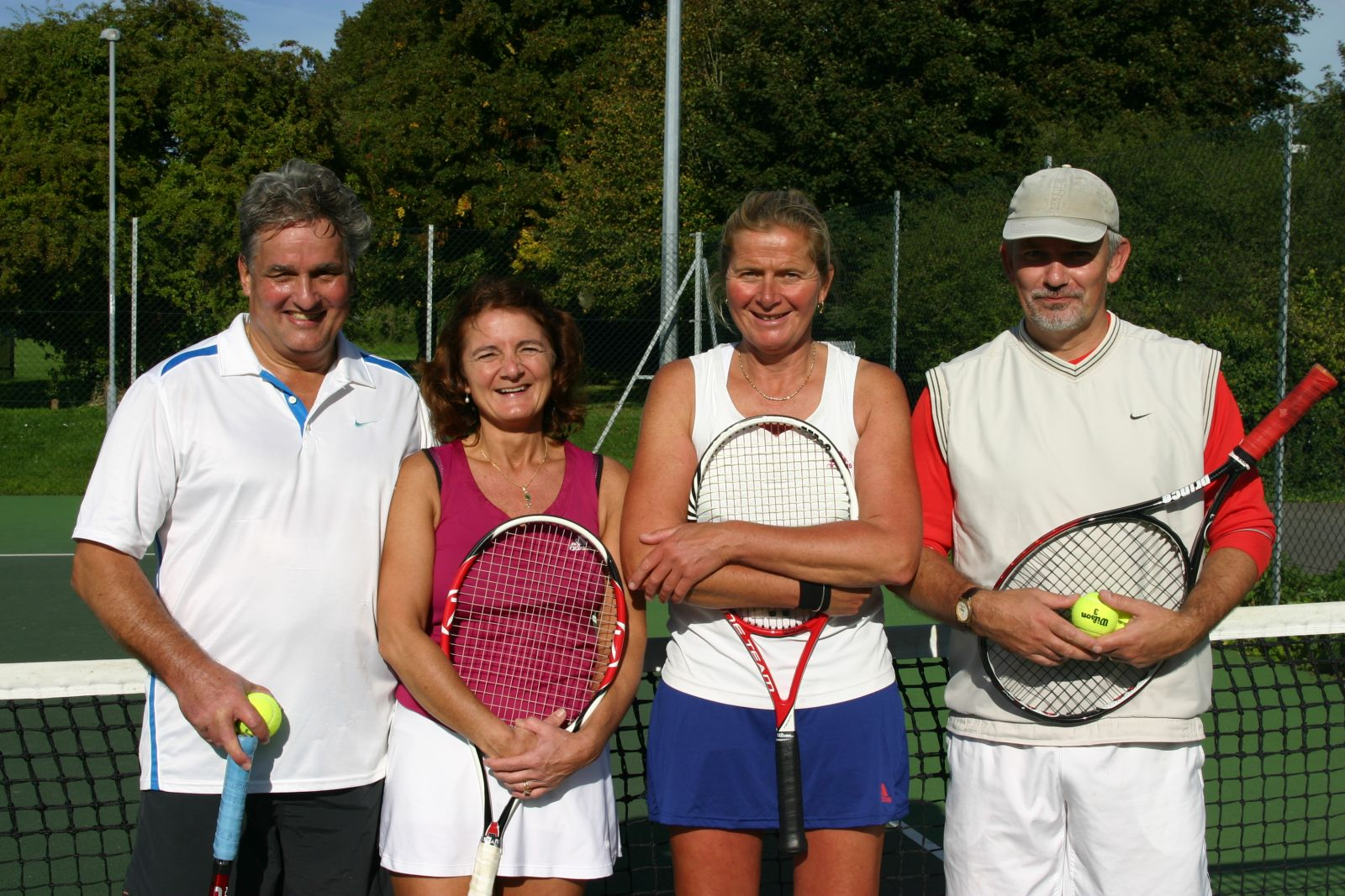 Finalists in the Mixed Vets - Sally & Paul Scott v Sarah Skidmore & Tim Button