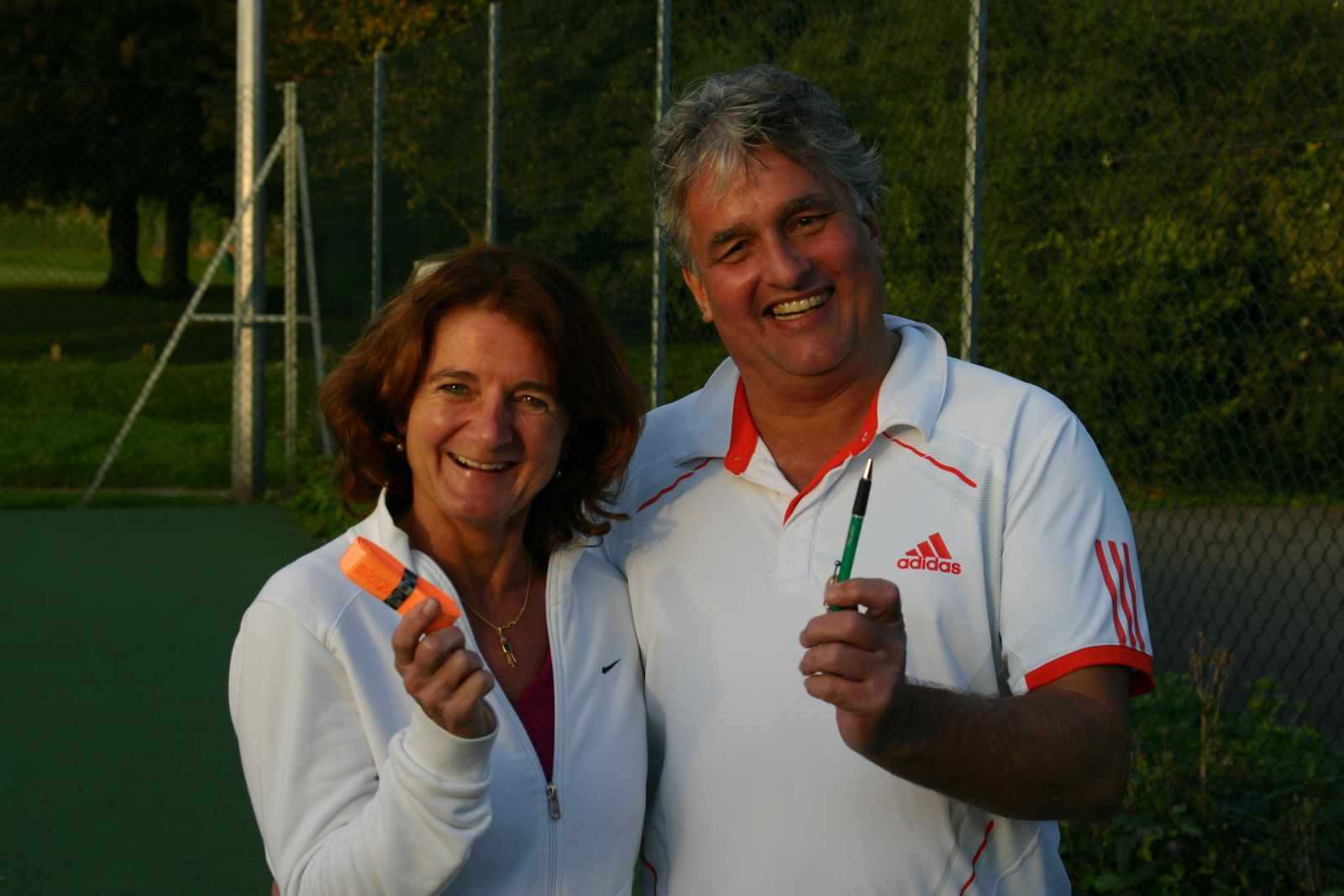 Runner-up in both the the Mixed and the Mixed Vets - Sally & Paul Scott