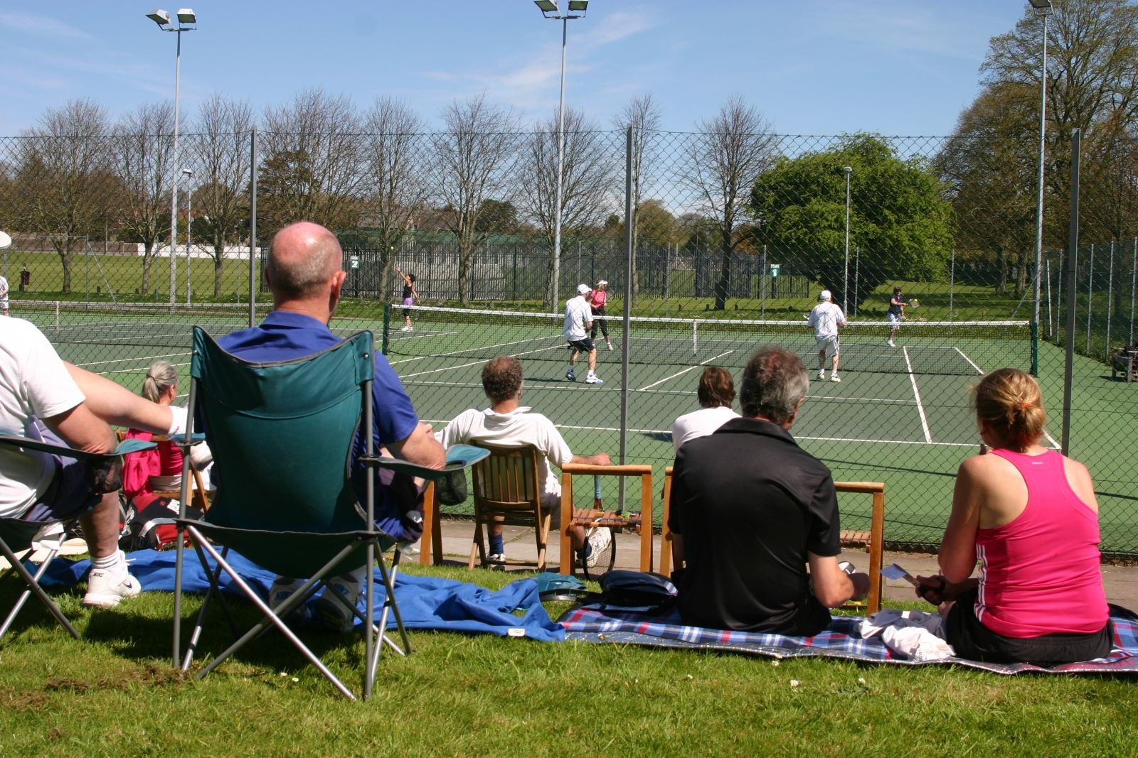 Spectators in the sunshine - May 2013