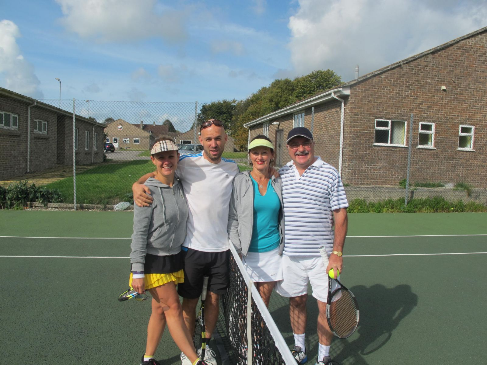 Mixed Doubles Consolation finalists, Chrissy & Andy Mayers (runners-up) and Ann Williams & Keith Mason (winners)