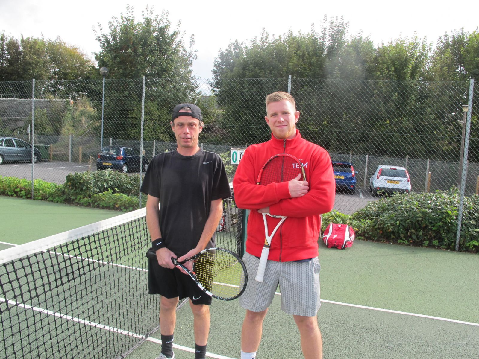Men's Singles finalists Guy Simmons and Guy O'Neill (right)