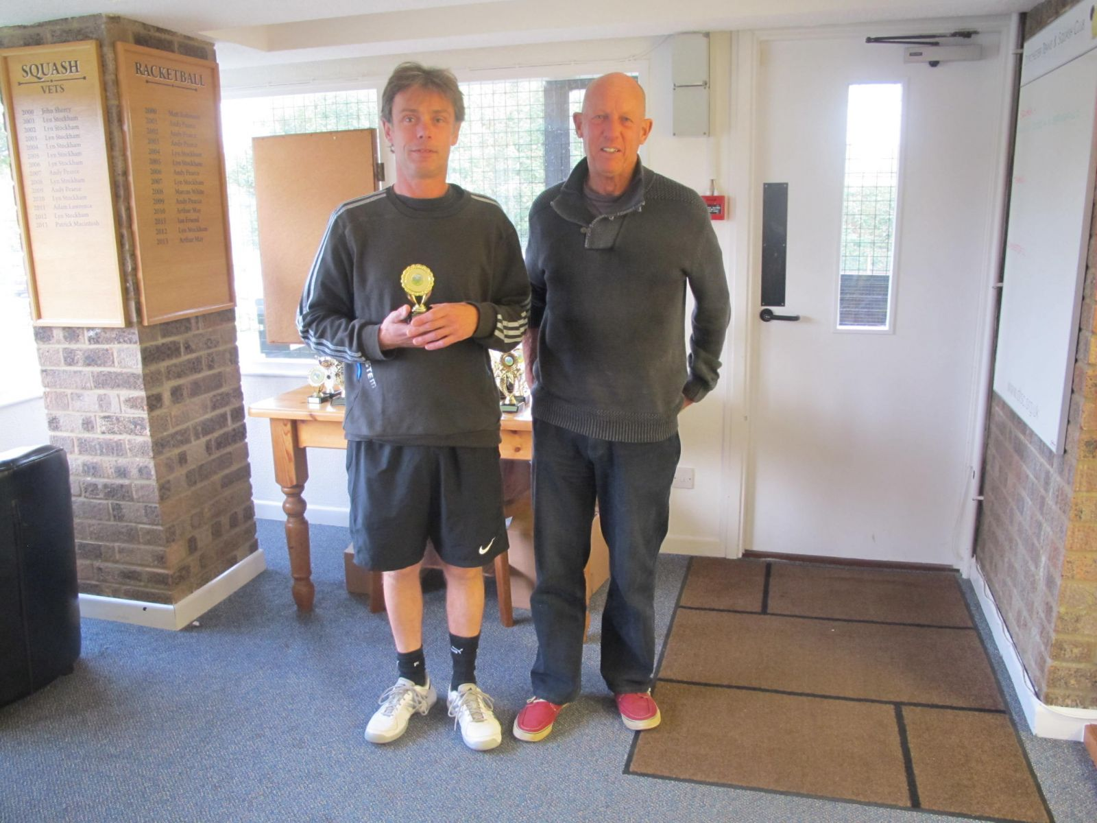 Guy Simmons, runner-up in the Men's Singles with Mike Henderson