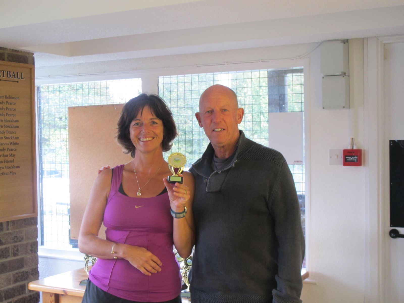 Ladies' Singles runner-up Elspeth Gracie with Tennis Chairman Mike Henderson