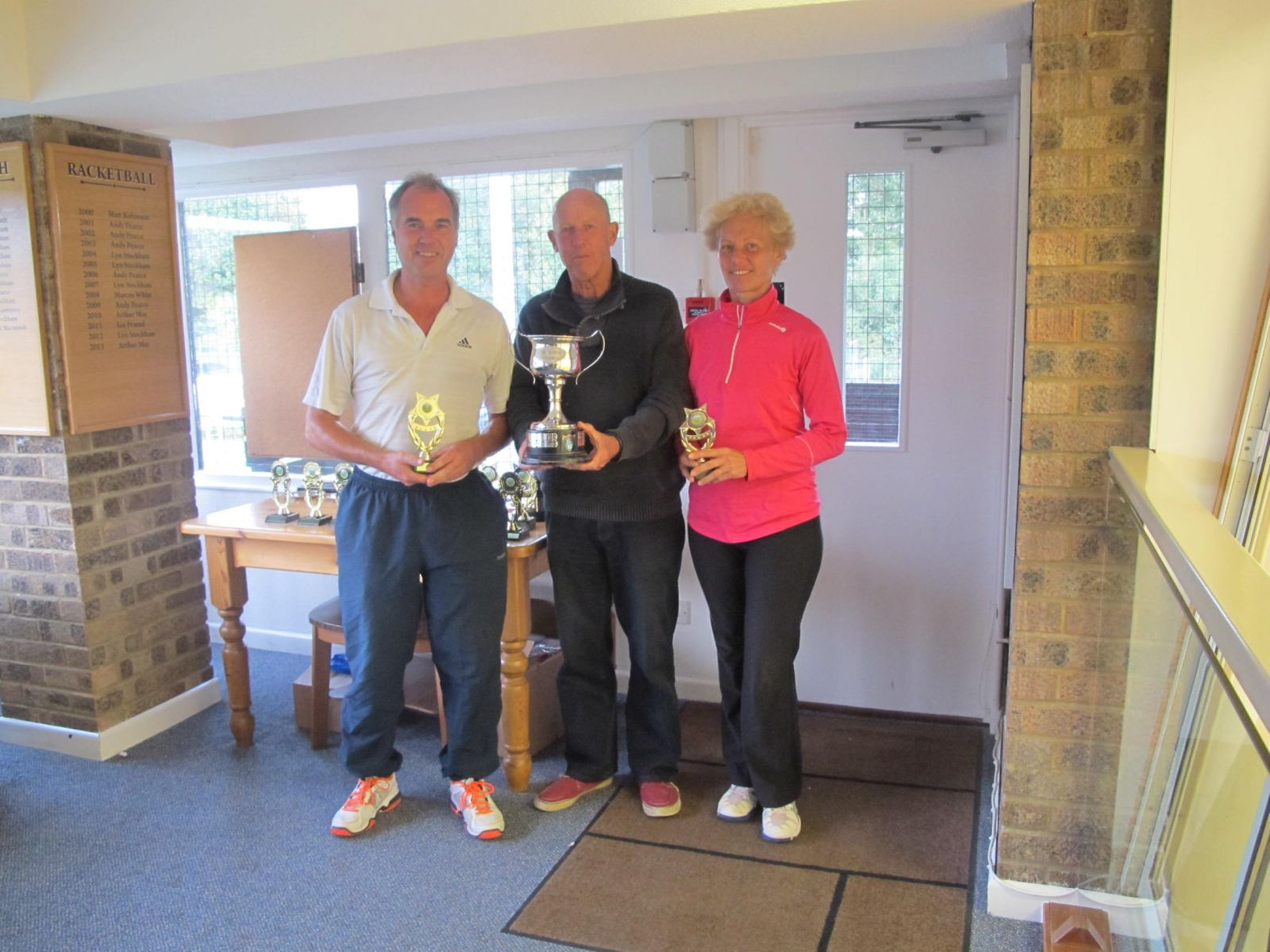 Adam Lawrence & Yvonne Henderson, Mixed Doubles Champions with Mike Henderson