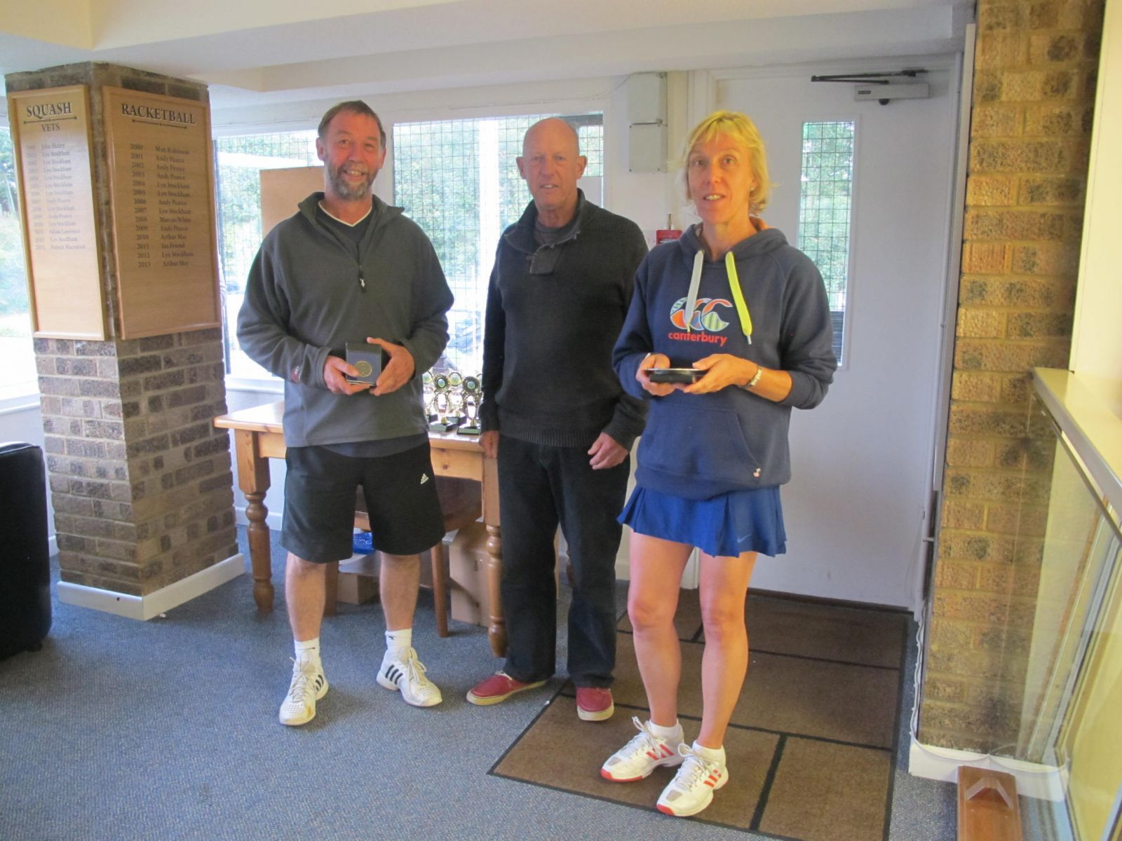 Tim Toogood & Sue Ramsbottom, Mixed Doubles runners-up with Mike Henderson