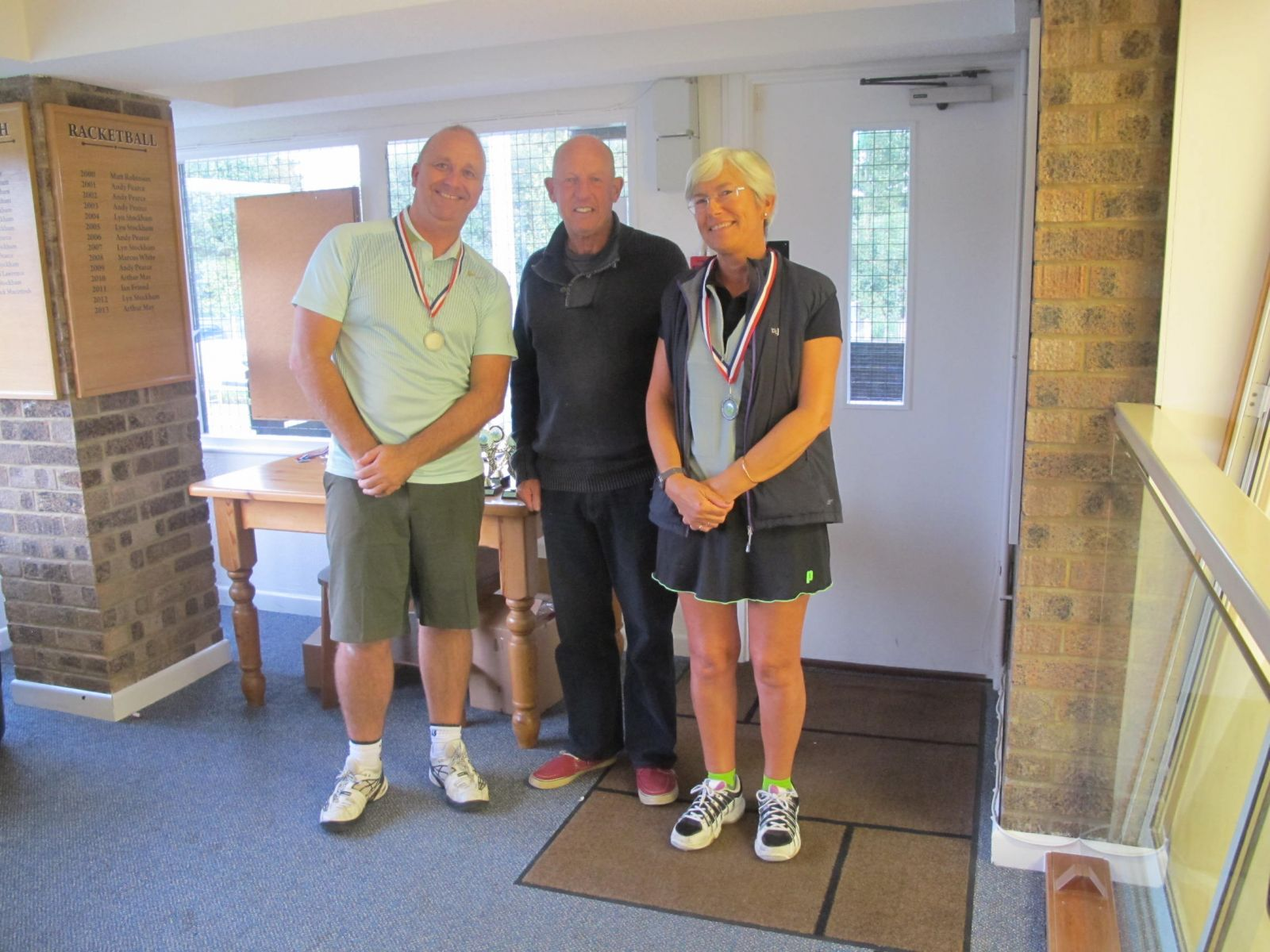 Richard Gracie & Alison Beaven, Mixed Doubles Consolation runners-up
