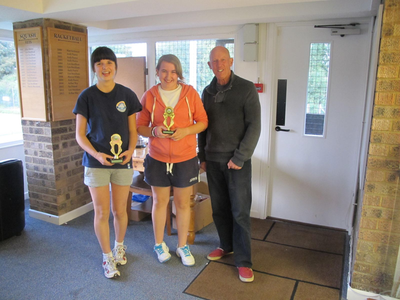 Ladies' Doubles runners-up Ellie Chambers & Kayleigh Budge