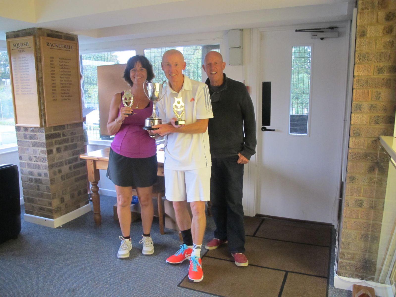 Elspeth Gracie & Derek Hanby, Mixed Veteran's Doubles Champions