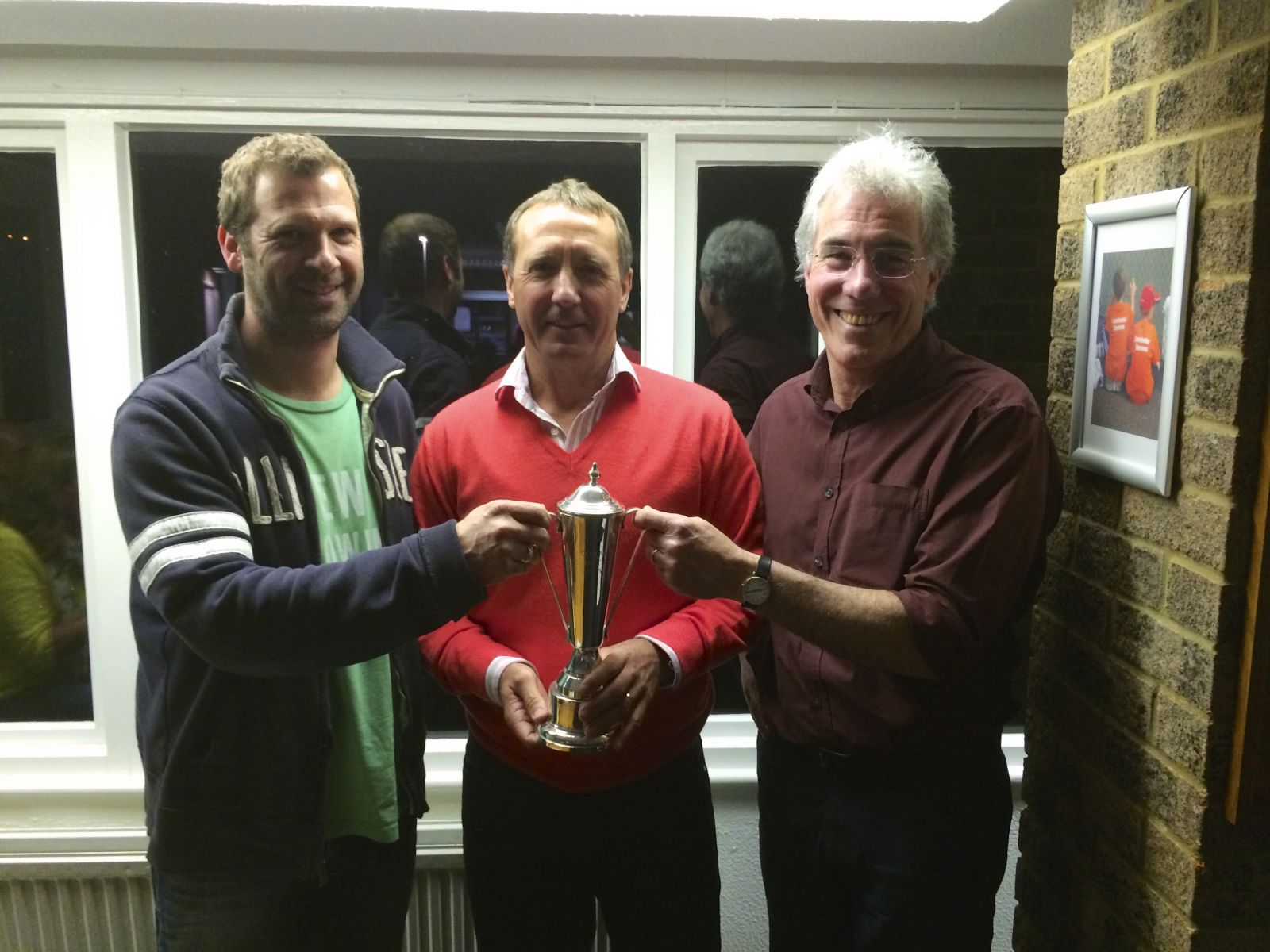Joint winners Colin Tracy and Lee Loder were presented with the club person of the year award 2014