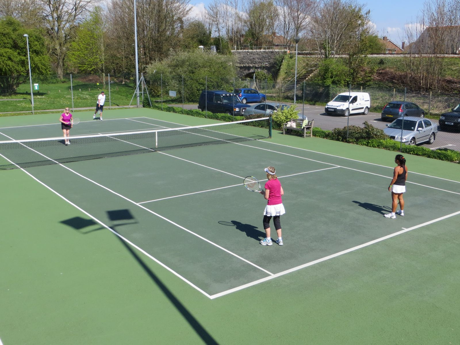 Easter 2014 Semi-finals Ros & Tim beating Felicia Pegg & Val Welch 6-3