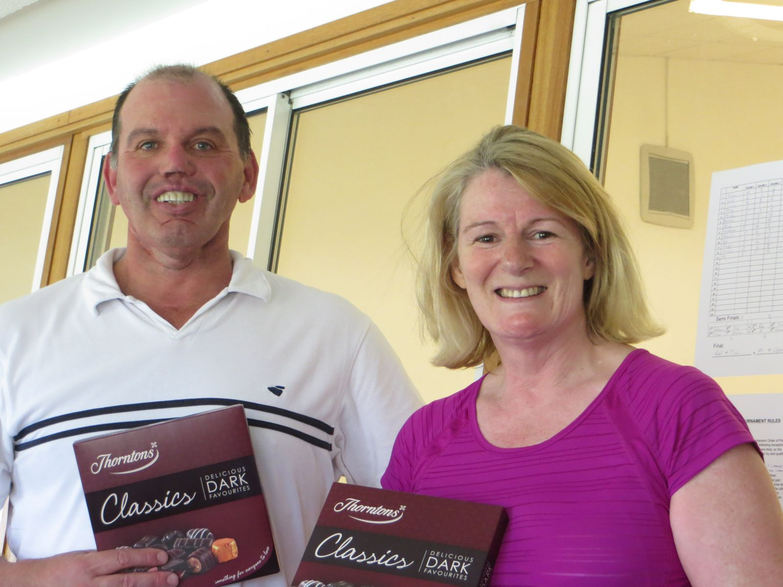 Easter 2014 Runners-up Tim Gallego & Ros Clark who lost 6-2 in the final