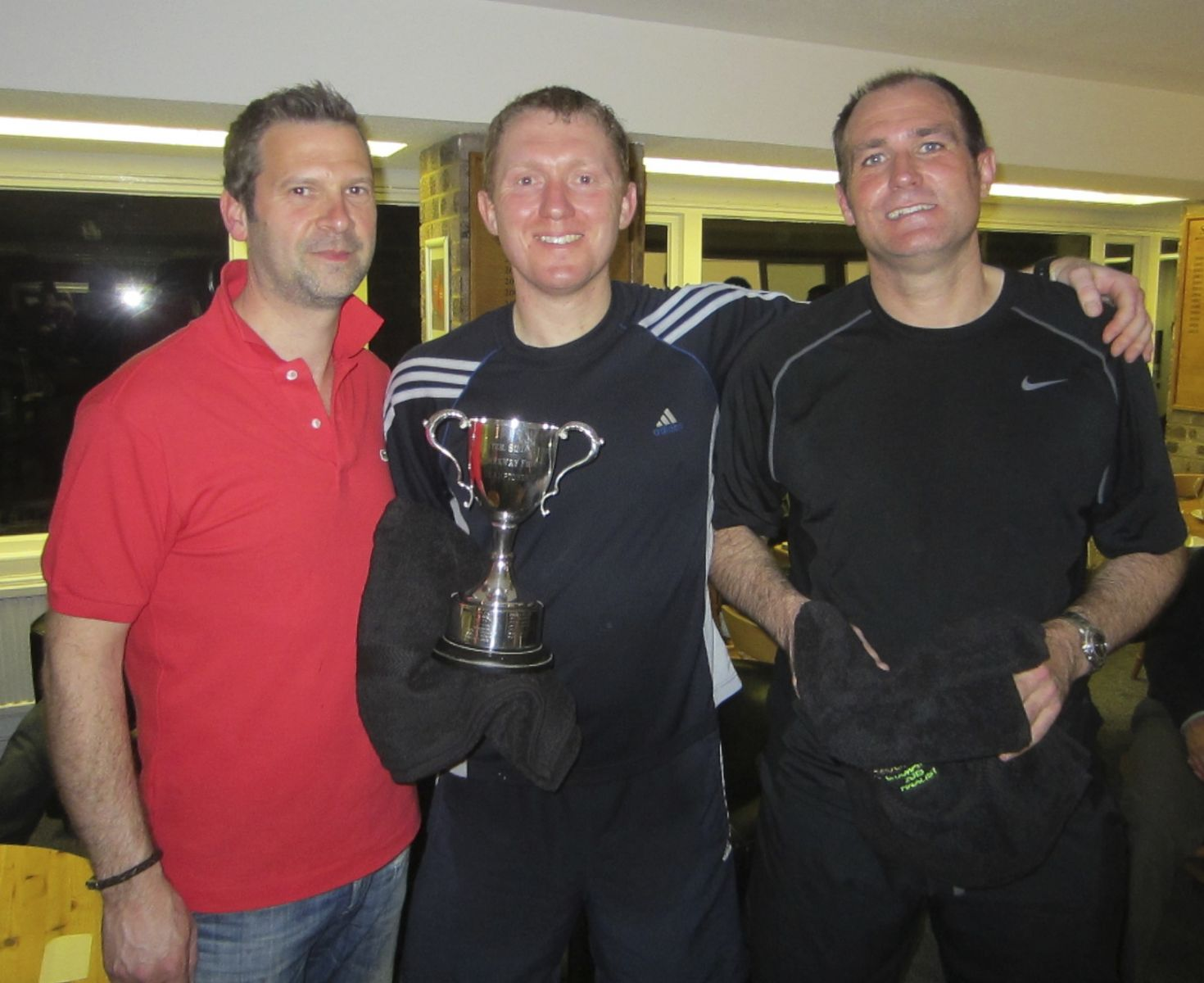 Stewart Dipple Squash Champion with Craig Robinson Runner Up